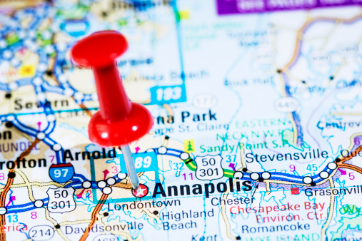 Maryland - US State「US capital cities on map series: Annapolis, Maryland, MD」:スマホ壁紙(2)