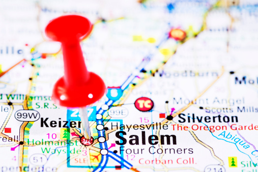 Oregon - US State「US capital cities on map series: Salem, Oregon, OR」:スマホ壁紙(2)