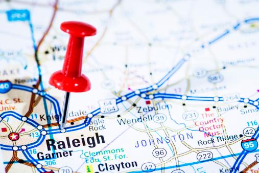 North Carolina - US State「US capital cities on map series: Raleigh, North Carolina, NC」:スマホ壁紙(2)