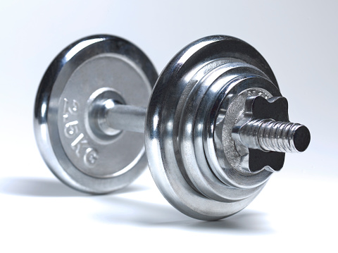 Dumbbell「Large Dumbbells on White background」:スマホ壁紙(10)