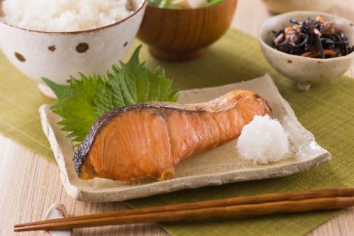 日本食「Grilled Silver Salmon」:スマホ壁紙(2)
