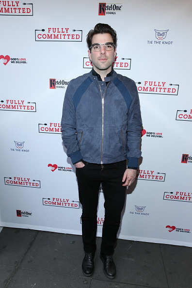 "Zachary Quinto「""Fully Committed"" Broadway Opening Night - Arrivals & Curtain Call」:写真・画像(9)[壁紙.com]"