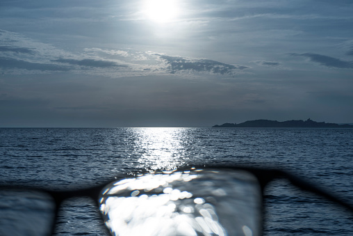 Eyesight「Series of toned black and white images of black rimmed glasses against rich darkened sky and strong sunlight highlighted over the sea」:スマホ壁紙(2)