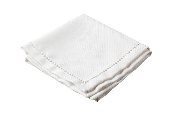 Folded white napkin with embroidered border:スマホ壁紙(壁紙.com)