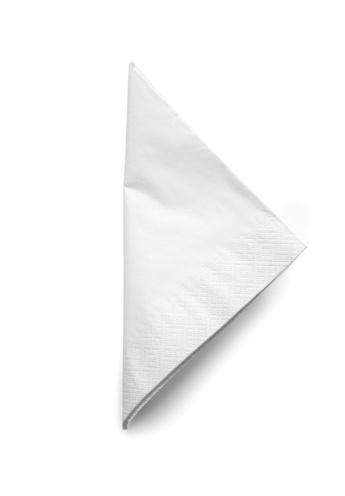 Napkin「Folded White Cocktail Napkin - isolated」:スマホ壁紙(12)