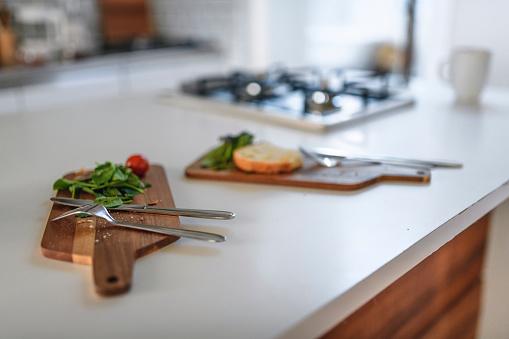 Kitchen Counter「Domestic Kitchen and Light Breakfast Preparation」:スマホ壁紙(12)