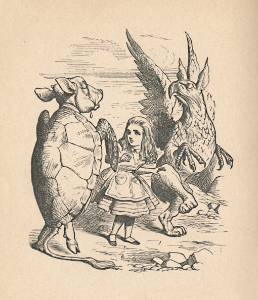 Fairy Tale「The Mock Turtle, Alice And The Gryphon, 1889」:写真・画像(1)[壁紙.com]