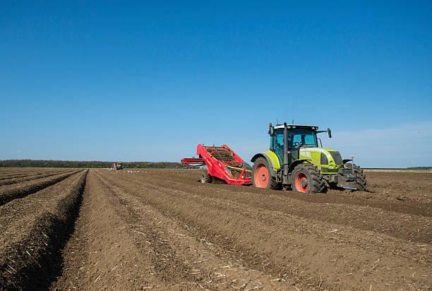 Potato planting by machine, Norfolk UK:スマホ壁紙(壁紙.com)