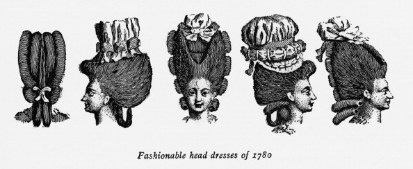 Wig「Fashionable head dresses of 1780」:写真・画像(17)[壁紙.com]