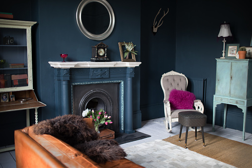 19th Century「Fashionable vintage styled living room」:スマホ壁紙(6)