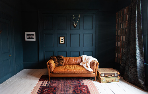 Dark「Fashionable Living Room interior」:スマホ壁紙(9)
