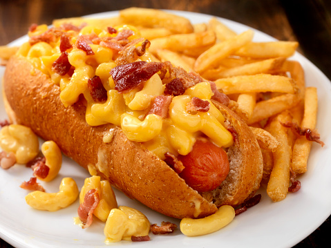 Hot Dog「Bacon Mac and Cheese Dog with Fries」:スマホ壁紙(6)