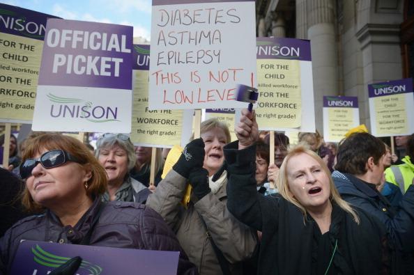 Glasgow - Scotland「Pupil Support Assistants Strike In Glasgow」:写真・画像(16)[壁紙.com]