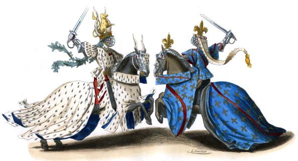 Circa 14th Century「14th century tournament,  wearing full armour」:写真・画像(1)[壁紙.com]
