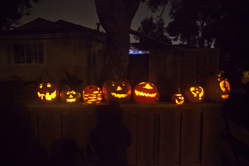 ハロウィン「Halloween pumpkins」:スマホ壁紙(5)