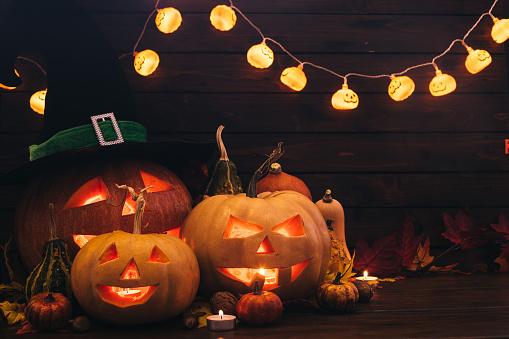 Halloween ghost「Halloween Pumpkins」:スマホ壁紙(11)