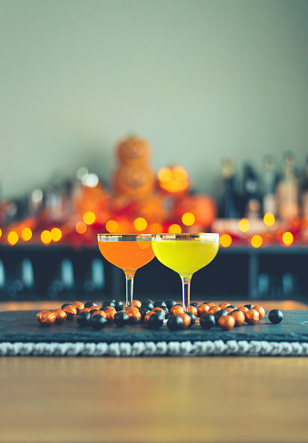 Halloween Party「Halloween party still life with cocktails and candy」:スマホ壁紙(19)