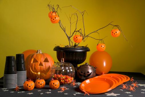 Halloween Party「Halloween party table」:スマホ壁紙(8)