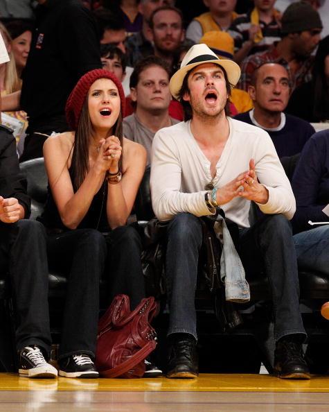 バスケットボール「Celebrities At The Lakers Game」:写真・画像(12)[壁紙.com]