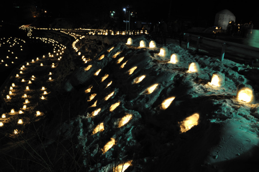 Igloo「Kamakura festival at Yunishigawa hot spring, Tochigi Prefecture, Honshu, Japan」:スマホ壁紙(8)
