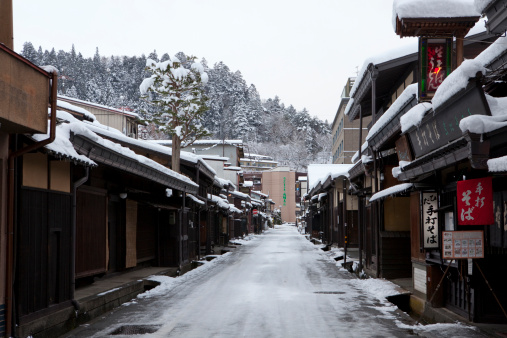 New Year「Snowy Old Town of Hida-takayama, Gifu Prefecture」:スマホ壁紙(16)