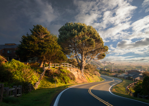California State Route 1「Curving Road, Late Afternoon」:スマホ壁紙(12)