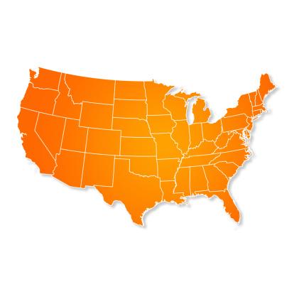 Latitude「US Map Isolated On White Background」:スマホ壁紙(2)