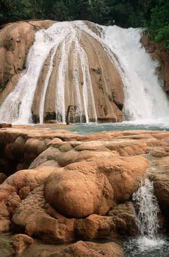 Agua Azul Cascades「Waterfall at Agua Azul」:スマホ壁紙(0)