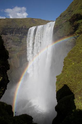Double Rainbow「Waterfall and rainbows」:スマホ壁紙(7)