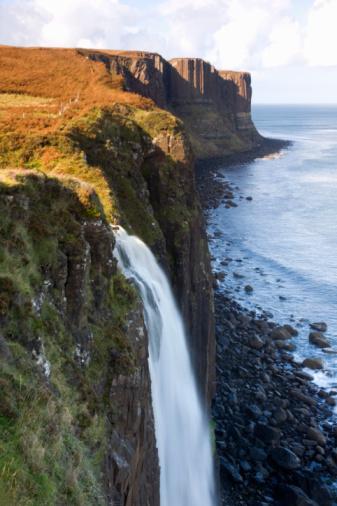 Basalt「Waterfall and Kilt Rock, Skye, Scotland」:スマホ壁紙(5)