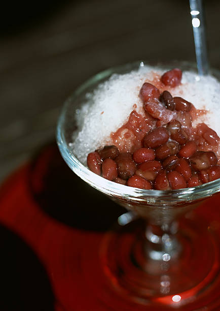 Shaved ice with red beans:スマホ壁紙(壁紙.com)