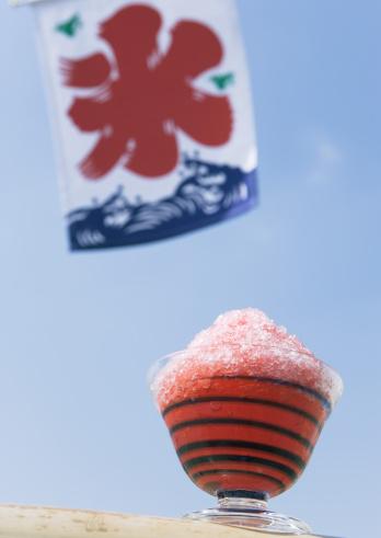 かき氷「Shaved ice and flag」:スマホ壁紙(4)