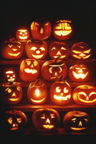 ハロウィン「Jack-o'-lanterns」:スマホ壁紙(11)