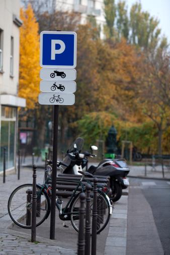 自転車・バイク「parking signfor motocycle and bike」:スマホ壁紙(10)
