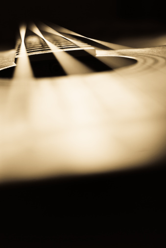 Bass Instrument「Abstract acoustic bass guitar background」:スマホ壁紙(2)