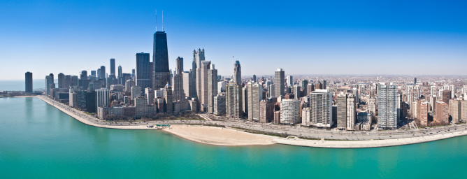 Great Lakes「Chicago Aerial Panorama」:スマホ壁紙(18)