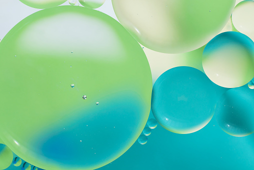Green Background「Bubbles background」:スマホ壁紙(11)