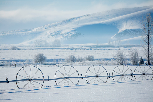 The Nature Conservancy「Irrigation system in snowy rural field」:スマホ壁紙(6)