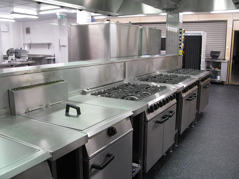 Commercial Kitchen「Spotless professional catering kitchen」:スマホ壁紙(13)