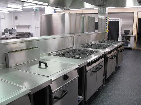 Postmodern「Spotless professional catering kitchen」:スマホ壁紙(2)