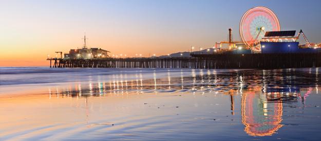 Coastline「Santa Monica Pier」:スマホ壁紙(3)