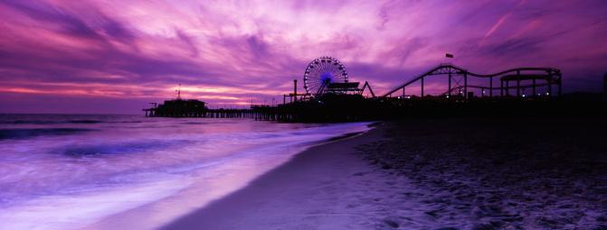 Ferris Wheel「Santa Monica Pier Panorama, Toned」:スマホ壁紙(13)