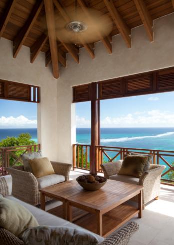 Ceiling Fan「Luxury lounge are overlooking Caribbean water」:スマホ壁紙(19)