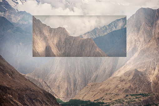 Multiple Exposure「Glitch effect of mountains and valley, Hunza, Northern Areas, Pakistan」:スマホ壁紙(13)