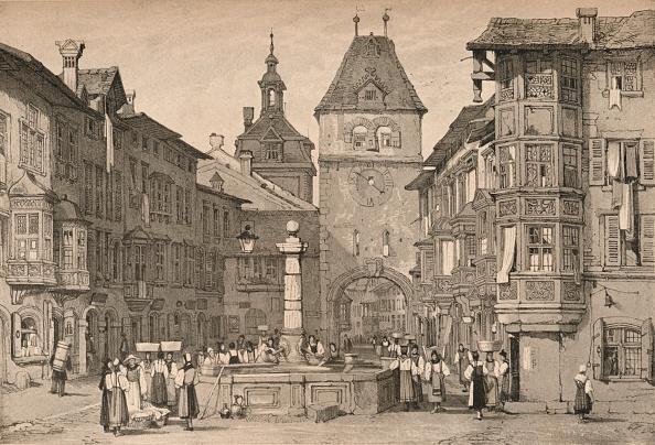 City Life「'Schaffhausen', C1830 (1915)」:写真・画像(2)[壁紙.com]
