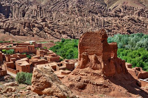 Atlas Mountains「spectacular rock landscape with casbah」:スマホ壁紙(9)