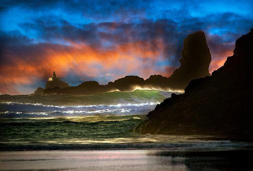 Cannon Beach「Spectacular Cannon Beach at Sunset」:スマホ壁紙(3)
