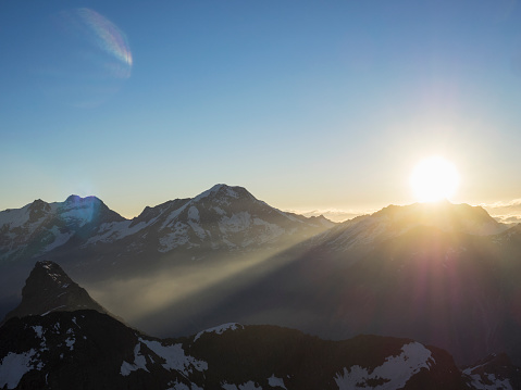 European Alps「Spectacular sunrise over mountains」:スマホ壁紙(19)