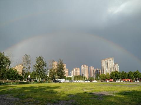Built Structure「Spectacular double rainbow」:スマホ壁紙(8)