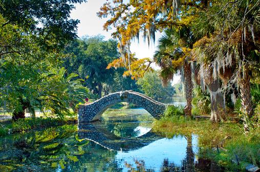 1900-1909「Old Stone Bridge, City Park, New Orleans」:スマホ壁紙(15)